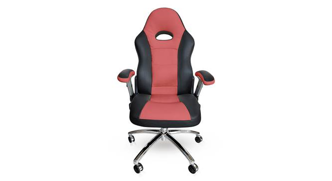Mika Study Chair (Scarlet Red) by Urban Ladder - Front View Design 1 - 240711
