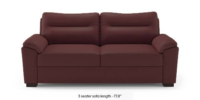 Adelaide Compact Leatherette Sofa (Burgundy) (1-seater Custom Set - Sofas, None Standard Set - Sofas, Burgundy, Leatherette Sofa Material, Compact Sofa Size, Soft Cushion Type, Regular Sofa Type)
