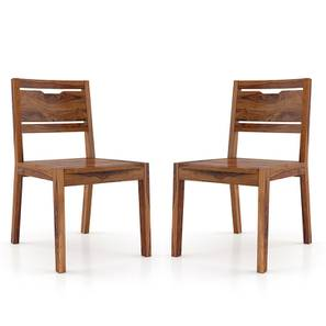 Aries Dining Chair - Set of 2 (Teak Finish) by Urban Ladder