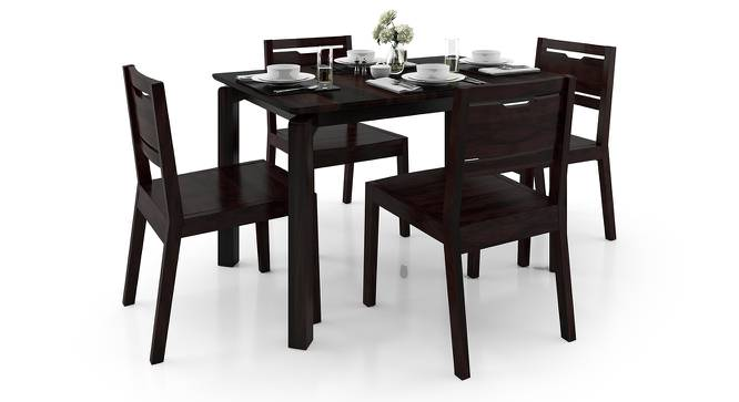 Catria - Aries 4 Seater Dining Table Set (Mahogany Finish) by Urban Ladder