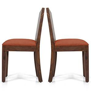 Oribi Dining Chairs - Set of 2 (Teak Finish, Burnt Orange) by Urban Ladder - - 24375