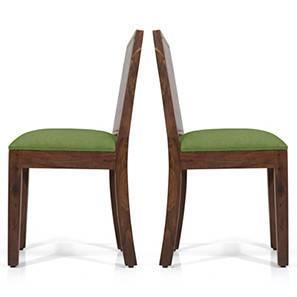 Oribi Dining Chairs - Set of 2 (Teak Finish, Avocado Green) by Urban Ladder - - 24389