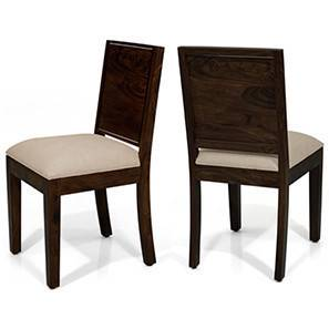 Oribi Dining Chairs - Set of 2 (Mahogany Finish, Wheat Brown) by Urban Ladder - - 24396