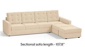 Apollo Sectional Tufted Sofa (Birch Beige)