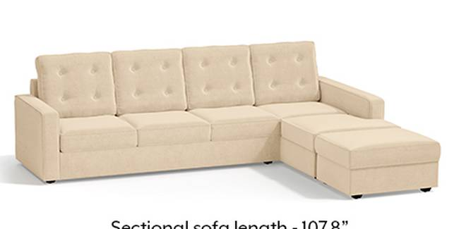 Apollo Sofa Set (Fabric Sofa Material, Regular Sofa Size, Soft Cushion Type, Sectional Sofa Type, Sectional Master Sofa Component, Birch Beige, Tufted Back Type, Regular Back Height)