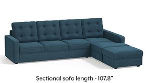 Apollo Sectional Tufted Sofa (Colonial Blue)