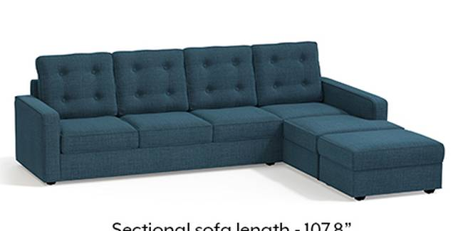 Apollo Sofa Set (Fabric Sofa Material, Regular Sofa Size, Soft Cushion Type, Sectional Sofa Type, Sectional Master Sofa Component, Colonial Blue, Tufted Back Type, Regular Back Height)