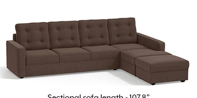 Apollo Sofa Set (Fabric Sofa Material, Regular Sofa Size, Soft Cushion Type, Sectional Sofa Type, Sectional Master Sofa Component, Daschund Brown, Tufted Back Type, Regular Back Height)