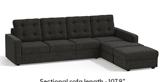 Apollo Sofa Set (Fabric Sofa Material, Regular Sofa Size, Soft Cushion Type, Sectional Sofa Type, Sectional Master Sofa Component, Graphite Grey, Tufted Back Type, Regular Back Height)