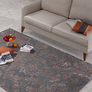 "Savoy Hand Tufted Carpet (Grey, 60'' x 93"" Carpet Size) by Urban Ladder"