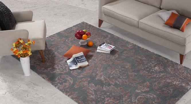 "Savoy Hand Tufted Carpet (Grey, 152 x 236 cm  (60 x 93"") Carpet Size) by Urban Ladder - - 25164"
