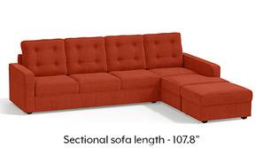 Apollo Sectional Tufted Sofa (Lava)