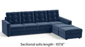 Apollo Sectional Tufted Sofa (Lapis Blue)