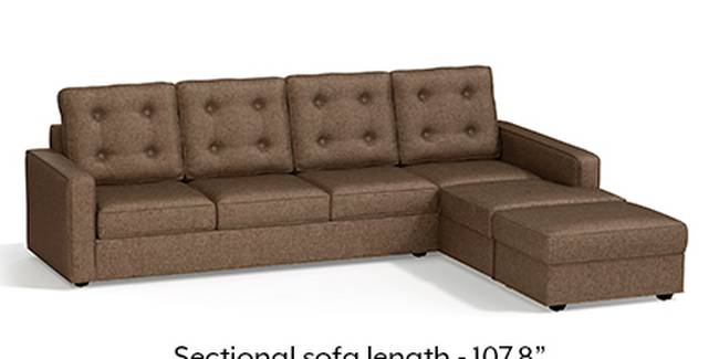 Apollo Sofa Set (Mocha, Fabric Sofa Material, Regular Sofa Size, Soft Cushion Type, Sectional Sofa Type, Sectional Master Sofa Component, Tufted Back Type, Regular Back Height)