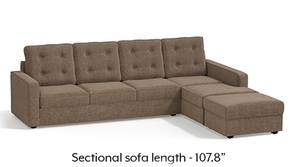 Apollo Sectional Tufted Sofa (Mist)
