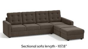 Apollo Sectional Tufted Sofa (Pine Brown)