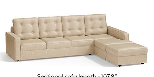 Apollo Sofa Set (Pearl, Fabric Sofa Material, Regular Sofa Size, Soft Cushion Type, Sectional Sofa Type, Sectional Master Sofa Component, Tufted Back Type, Regular Back Height)