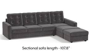Apollo Sectional Tufted Sofa (Smoke)