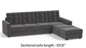 Apollo Sectional Tufted Sofa (Smoke)