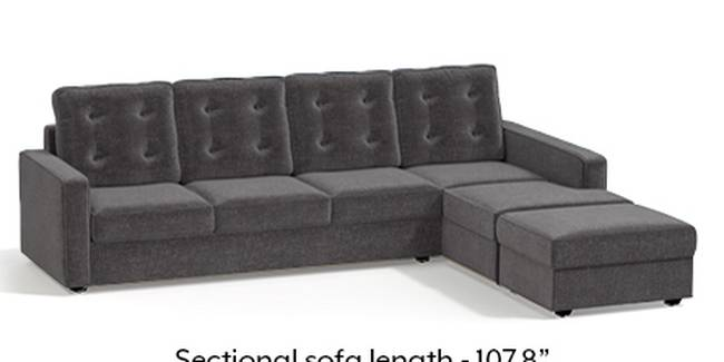 Apollo Sofa Set (Smoke, Fabric Sofa Material, Regular Sofa Size, Soft Cushion Type, Sectional Sofa Type, Sectional Master Sofa Component, Tufted Back Type, Regular Back Height)