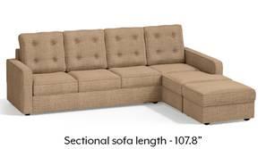 Apollo Sectional Tufted Sofa (Sandshell Beige)