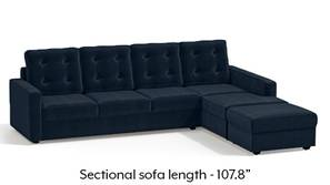 Apollo Sectional Tufted Sofa (Sea Port Blue Velvet)