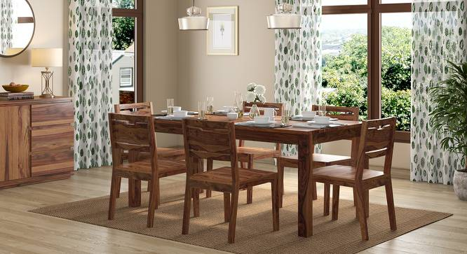 Arabia XL - Aries 6 Seater Dining Table Set (Teak Finish) by Urban Ladder