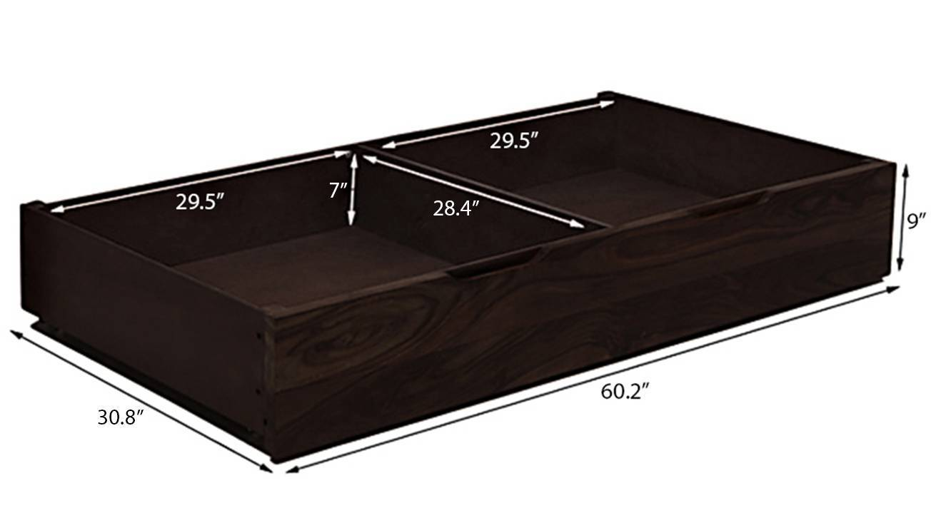Florence storage bed solid wood mahogany finish queen bed size lava dim32