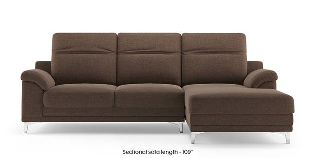 Hally Adjustable Sectional Sofa (Brown) (Brown, None Custom Set - Sofas, Left Aligned 3 seater + Chaise Standard Set - Sofas, Fabric Sofa Material, Regular Sofa Size, Sectional Sofa Type)