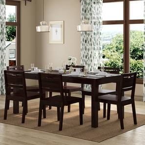 Arabia XL Storage - Aries 6 Seater Dining Table Set (Mahogany Finish) by Urban Ladder