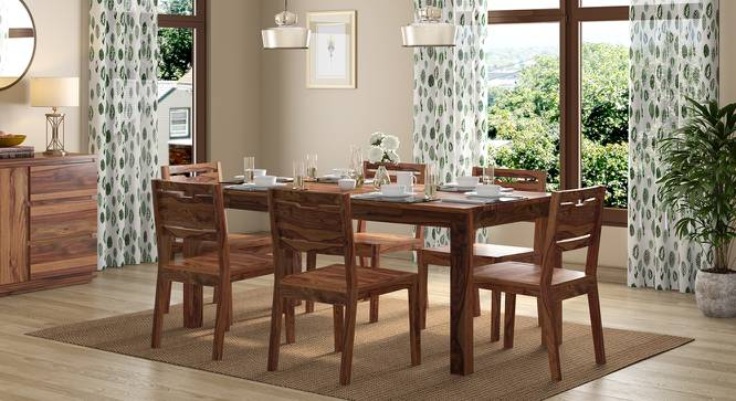 Arabia XL Storage - Aries 6 Seater Dining Table Set (Teak Finish) by Urban Ladder