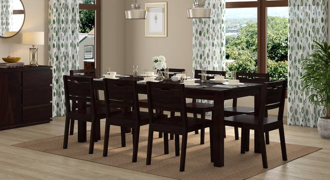 Arabia XXL - Aries 8 Seater Dining Table Set (Mahogany Finish) by Urban Ladder