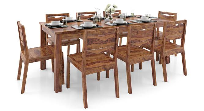Arabia XXL - Aries 8 Seater Dining Table Set (Teak Finish) by Urban Ladder