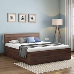 Cavinti Storage Bed (Walnut Finish, Queen Bed Size, Box Storage Type) by Urban Ladder