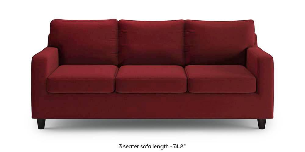Walton Compact Sofa (Sangria Red) (1-seater Custom Set - Sofas, None Standard Set - Sofas, Sangria Red, Fabric Sofa Material, Regular Sofa Size, Regular Sofa Type) by Urban Ladder