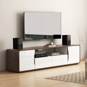 "Baltoro High Gloss XL 70"" TV Unit (White Finish) by Urban Ladder"