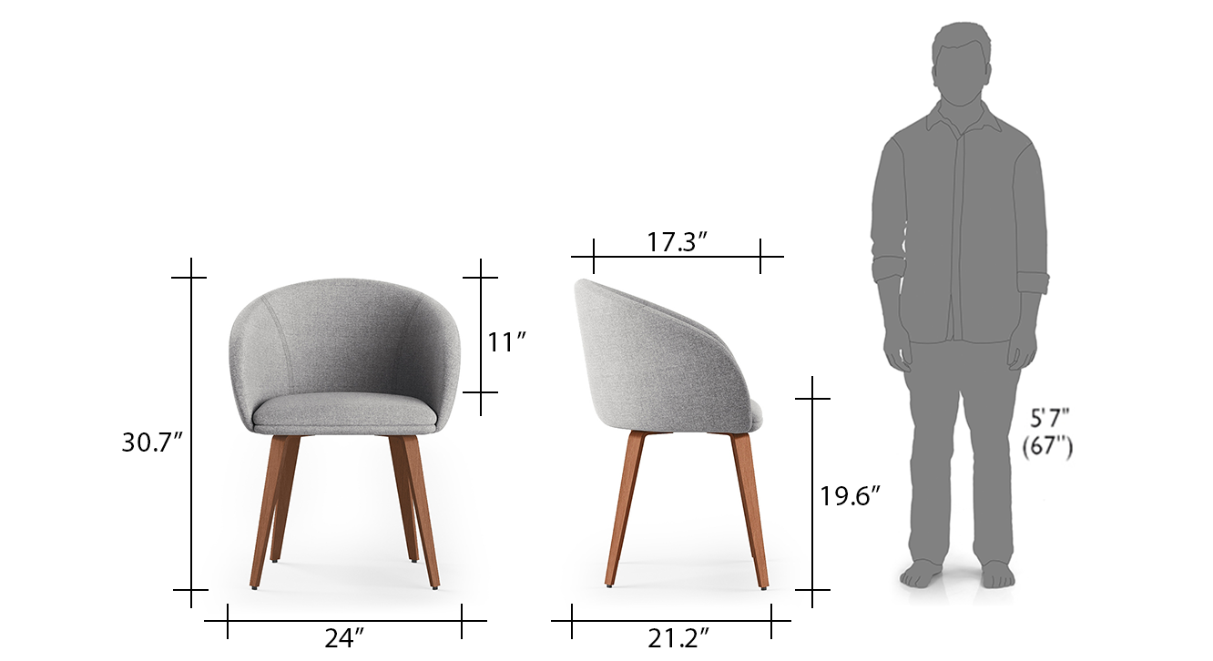 Meryl chair grey 6