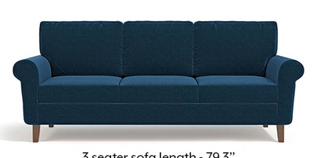 Oxford Sofa (Cobalt, Fabric Sofa Material, Regular Sofa Size, Soft Cushion Type, Regular Sofa Type, Master Sofa Component)