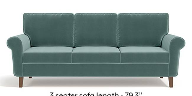 Oxford Sofa (Fabric Sofa Material, Regular Sofa Size, Soft Cushion Type, Regular Sofa Type, Master Sofa Component, Dusty Turquoise Velvet)
