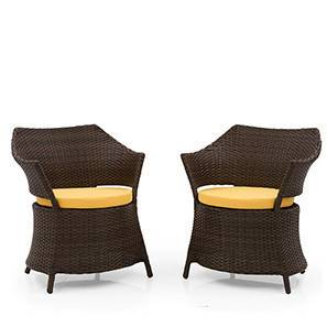 Calabah Patio Armchair - Set of 2 (Brown) by Urban Ladder - - 25507