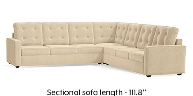 Apollo Sofa Set (Fabric Sofa Material, Regular Sofa Size, Soft Cushion Type, Corner Sofa Type, Corner Master Sofa Component, Birch Beige, Tufted Back Type, Regular Back Height)