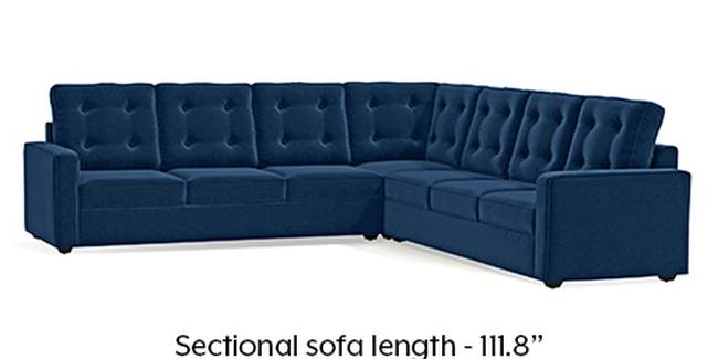 Apollo Sofa Set (Cobalt, Fabric Sofa Material, Regular Sofa Size, Soft Cushion Type, Corner Sofa Type, Corner Master Sofa Component, Tufted Back Type, Regular Back Height)