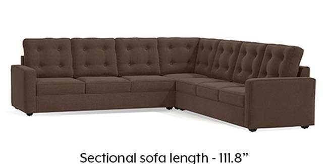 Apollo Sofa Set (Fabric Sofa Material, Regular Sofa Size, Soft Cushion Type, Corner Sofa Type, Corner Master Sofa Component, Daschund Brown, Tufted Back Type, Regular Back Height)