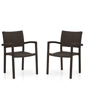 Danum Patio Armchairs (Set of 2) (Brown) by Urban Ladder