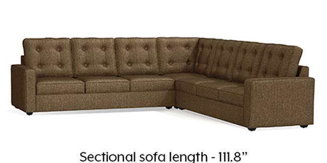 Apollo Sofa Set (Dune, Fabric Sofa Material, Regular Sofa Size, Soft Cushion Type, Corner Sofa Type, Corner Master Sofa Component, Tufted Back Type, Regular Back Height)