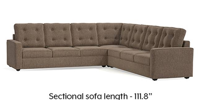 Apollo Sofa Set (Mist, Fabric Sofa Material, Regular Sofa Size, Soft Cushion Type, Corner Sofa Type, Corner Master Sofa Component, Tufted Back Type, Regular Back Height)