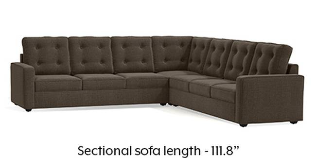 Apollo Sofa Set (Fabric Sofa Material, Regular Sofa Size, Soft Cushion Type, Corner Sofa Type, Corner Master Sofa Component, Pine Brown, Tufted Back Type, Regular Back Height)
