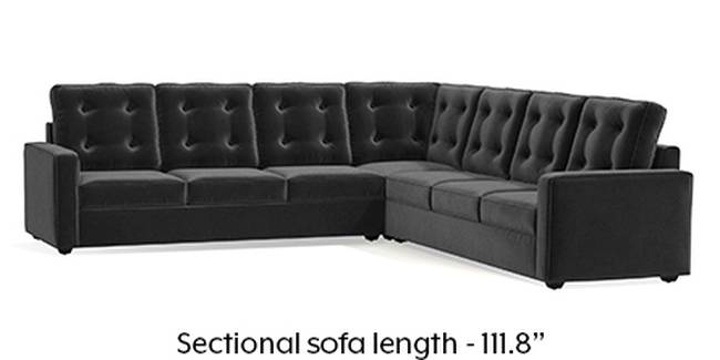 Apollo Sofa Set (Fabric Sofa Material, Regular Sofa Size, Soft Cushion Type, Corner Sofa Type, Corner Master Sofa Component, Pebble Grey, Tufted Back Type, Regular Back Height)