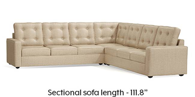 Apollo Sofa Set (Pearl, Fabric Sofa Material, Regular Sofa Size, Soft Cushion Type, Corner Sofa Type, Corner Master Sofa Component, Tufted Back Type, Regular Back Height)