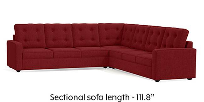 Apollo Sofa Set (Fabric Sofa Material, Regular Sofa Size, Soft Cushion Type, Corner Sofa Type, Corner Master Sofa Component, Salsa Red, Tufted Back Type, Regular Back Height)